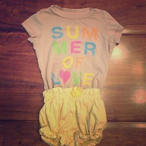 Other - Peek...Shirt. Size 3-6. Baby Gap Shorts. Size 0-3.