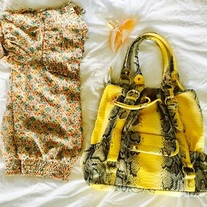 e4d065d267 Bags - IMAN 🌺City Chic Tote Bag Yellow Canary Snakeskin