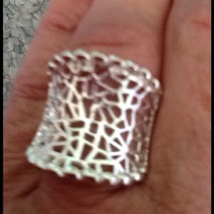 Jewelry - Stamped 92.5 silver size 8 statement ring