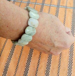 Jewelry - Natural Jade Stone Bracelet Stretchy