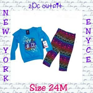 Other - 🌟NWT🌟💙⚡NEW YORK ENYCE 2PC OUTFIT⚡💙