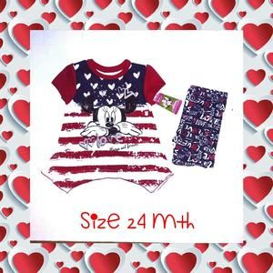 Other - 🌟NWT🌟💖MINNIE MOUSE 3 PIECE OUTFIT💖