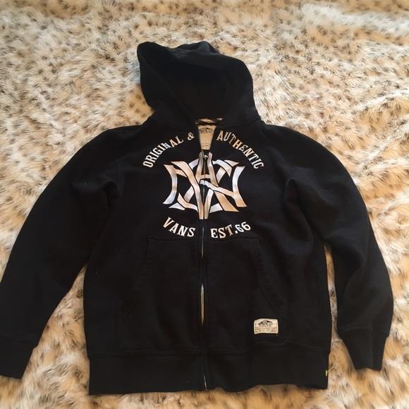 42c17b38cb Vans off the wall black full zip hooded jacket. M 58011701bf6df57ed402a193