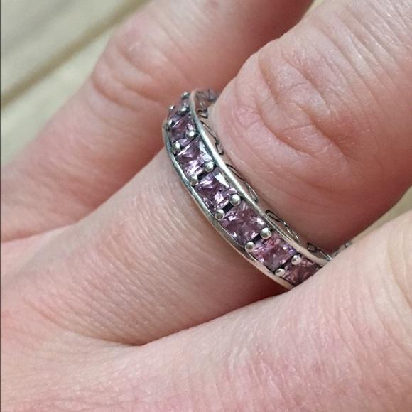 infinity ring pandora. pandora jewelry - infinity stackable ring e