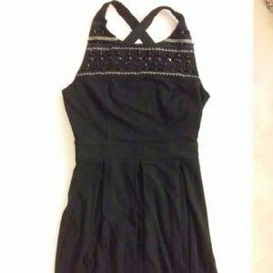 twelve by twelve  Dresses & Skirts - Bubble Dress Open Back Black Pleated Skirt