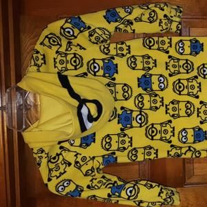 Boys fleece Minion pajamas