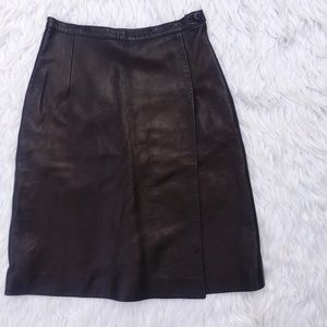 Valentino Dresses & Skirts - • Valentino • Brown Lambskin Skirt