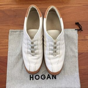 Hogan Shoes - HOGAN leather sneakers.
