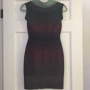 Herve Leger Dresses & Skirts - 🎉HOST PICK🎉Stunning Ombré Herve Leger Dress NWT!