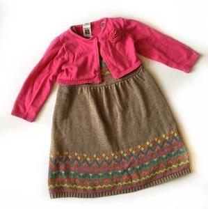 2 piece dress with sweater 12M