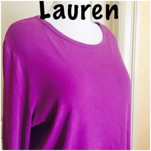 Ralph Lauren purple long sleeve tee