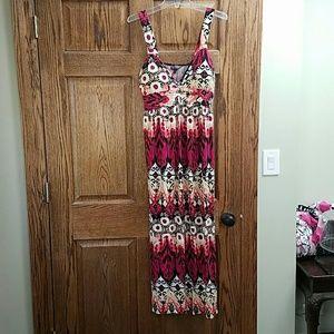 XL multi color maxi dress