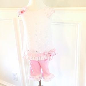 Bonnie Baby Other - Bonnie Baby Pink & White Outfit 24 Months