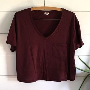 Garage Tops - Garage Crop Pocket Tee