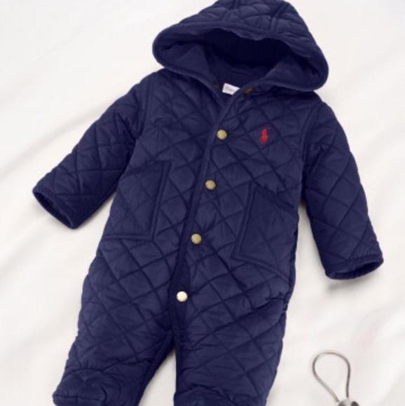 fca0ef941 Ralph Lauren Jackets & Coats | Nwt Quilted Snowsuit Bunting 6 Mos ...