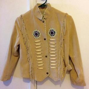 Other - Vintage Suede Frontier Jacket