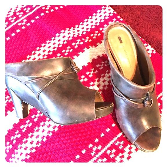 Schuler & Sons Shoes - Anthropologie Schuler & Sons Open Toe Clog Heels