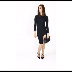Atid Clothing Dresses & Skirts - THE PERFECT little black dress!!! Ribbed material!