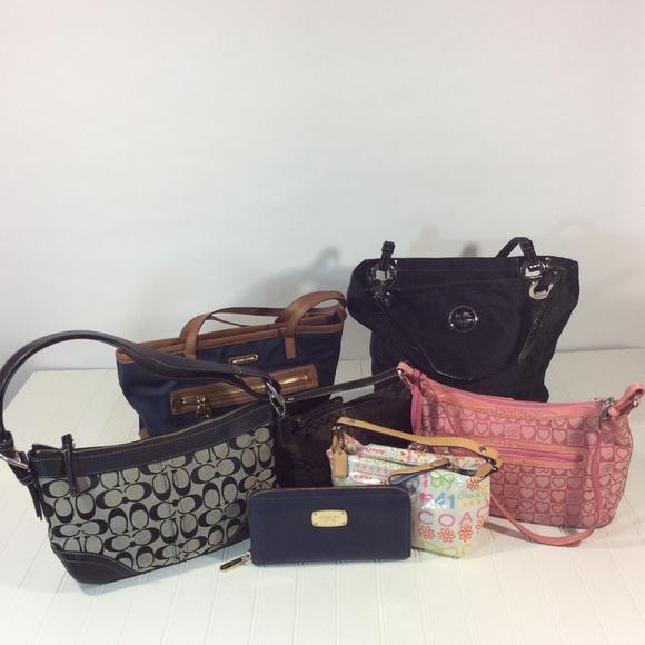 7 Michael Kors Coach Brighton pause wallet bag lot.  M 58012deaf739bc1f4a00e398 561cf391cdb23