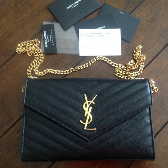 aeff24bf9db1 Off saint laurent handbags authentic monogramme jpg 580x580 Authentic ysl  chain bag