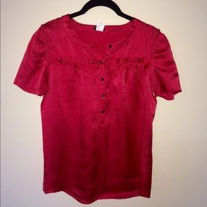 J. Crew silk shirt