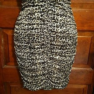 Charlotte Russe Dresses - Bodycon Strapless Cheetah Club After Hours Dress M