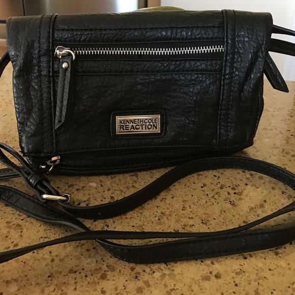 5894468efb3 Kenneth Cole Reaction Handbags - Kenneth Cole Reaction Black Leather  Crossbody Bag