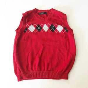 Red holiday vest