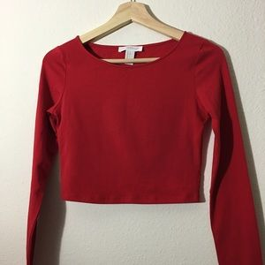 NWOT Forever21 Red Crop Top