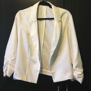 white blazer from Maurice's