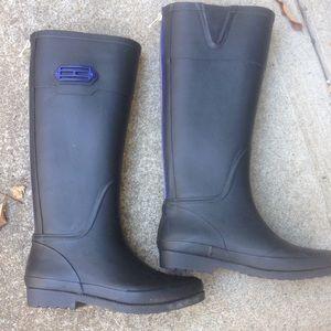Women's Tommy Hilfiger Black Tall Rain Boots 6M