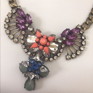 J. Crew Statement Necklace Crystal Stone Bling