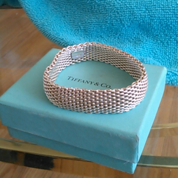 1d6998cf1ba48 Authentic Tiffany Somerset Mesh Bracelet