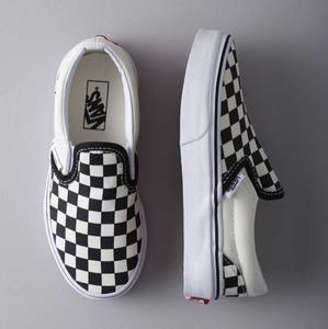 Baby checkered vans slip on