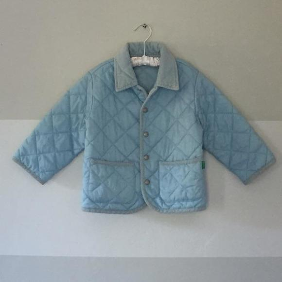 17% off United Colors Of Benetton Other - Benetton Baby Blue ... : baby quilted jacket - Adamdwight.com