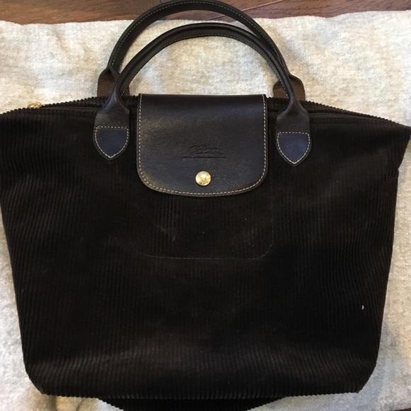 2c95a812ae Longchamp Handbags - LONGCHAMP CHOCOLATE BROWN CORDUROY TOTE