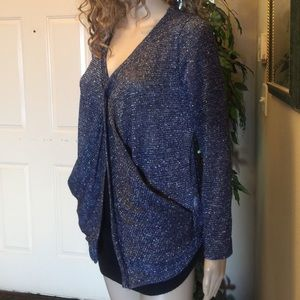 Sweaters - Blue Women's Sweater w/silver accent sz med