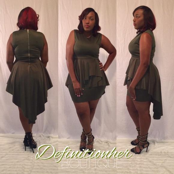 Dresses | Olive Plus Peplum Dressplus Size | Poshmark