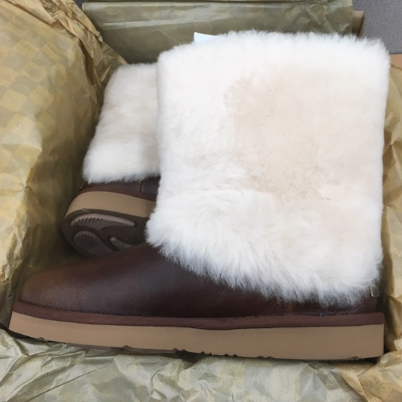 ed1c861bd6b Women's UGG Patten Leather Chestnut NWT