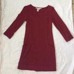 Max Studio burgundy dress with pockets