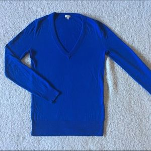 Cobalt sweater - perfect for spring.