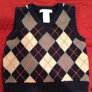 Janie and Jack Other - Janie and Jack Argyle Sweater Vest 12-18 months