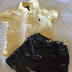 Ralph Lauren Other - Ralph Lauren Yellow Polo and Old Navy Embroidered Shorts