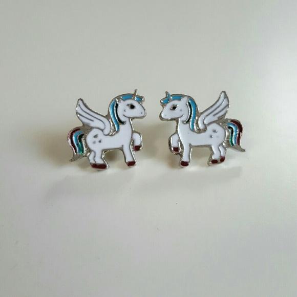 Jewelry - Rainbow Unicorn Earrings