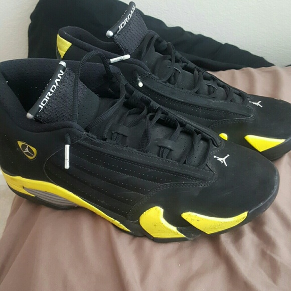 finest selection 62df5 6fe51 Air Jordan 14 Retro Thunder Black / Yellow