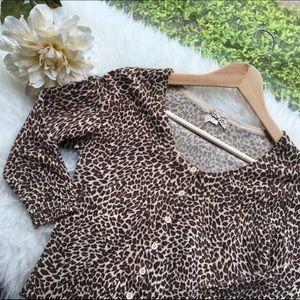 Final price dropLeopard print cardigan