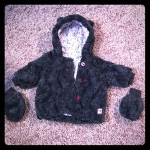 Catimini fur Jacket (been worn two times only )