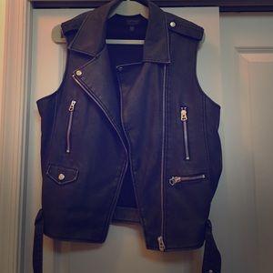 TopShop Faux Leather Vest