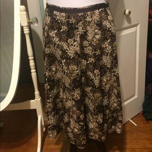 Christopher & Banks Dresses & Skirts - Vintage Brown Floral skirt size 10