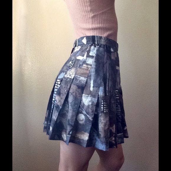 Vintage Dresses & Skirts - [Jazzzi] Vintage Camo Pleated Athletic Skirt
